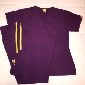 WINK Purple Scrubs